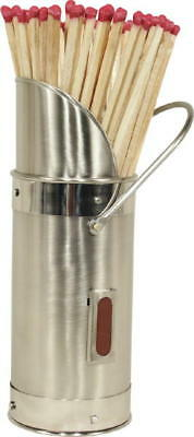 Polished Steel Match Holder Matches Holder Fireplace Accessories FREE MATCHES!