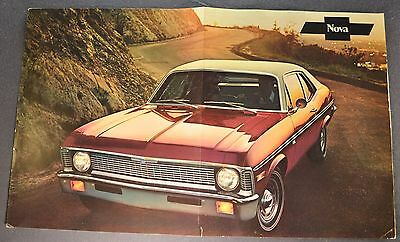 1971 Chevrolet Nova Coupe Sales Brochure Poster Sheet Nice Original 71