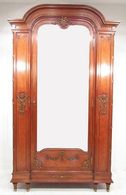 "Exceptional Antique Oak and Ormolou Wardrobe Armoire "" Paris"""