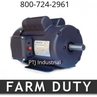 1.5 hp electric motor 56H 1800 rpm single phase farm duty 1 phase