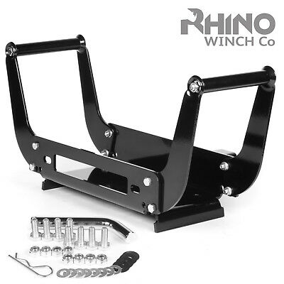Portable Winch Mounting Plate - 8000lb to 15000lb - Compact Heavy Duty 4x4 plate