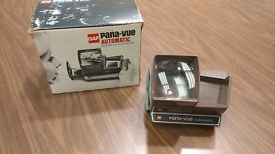 Vintage GAF Pana-Vue Automatic Lighted Slide Viewer in Original Box