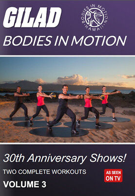 GILAD BODIES IN MOTION 30th ANNIVERSARY SHOWS VOLUME 3 - 2 WORKOUTS NEW SEALED