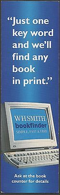 Bookmark from W.H.Smith promoting their Bookfinder Service