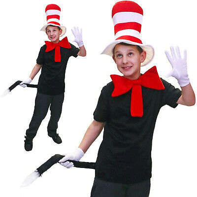 Cat in the Hat Child 3 piece Set World Book Day Fancy dress costume outfit