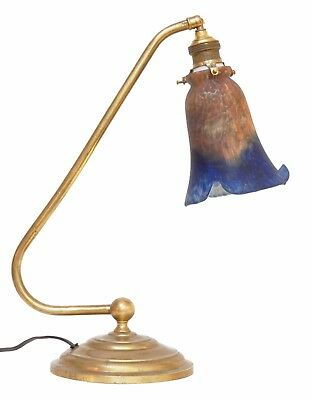 Gorgeous Art Nouveau Brass Lamp Unicum Bankers' Lamp Berlin