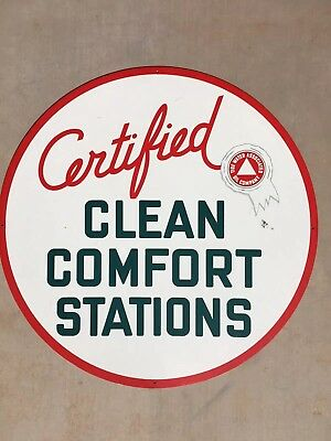Original Flying A Tidewater Associated Certified Clean Comfort Stations Sign