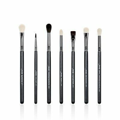 Jessup Brand 7pcs Black/Silver Professional Makeup Brush Set Beauty Eyeshadow