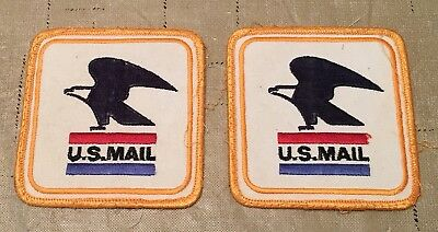 2-U.S. US Mail Patches, Postal Post Office, Vintage, Age Unknown