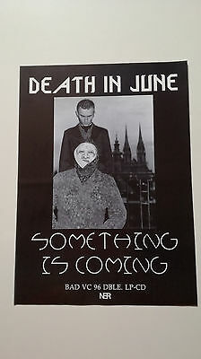 DEATH IN JUNE Something Is Coming promo poster ORIGINAL 1993 N.E.R. Douglas P.