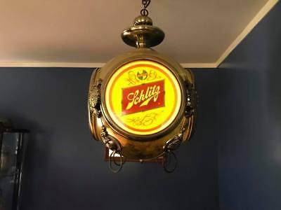 Schlitz Collectible Rotating Beer Clock, Perfect for Man Cave.