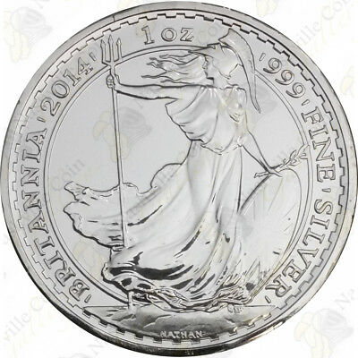 2014 Great Britain Silver Britannia - 1 oz - Uncirculated - SKU #67714