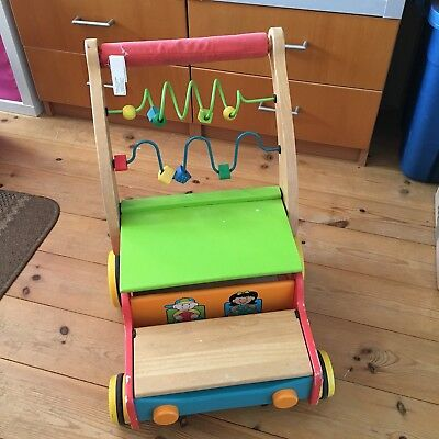 Wooden Baby Walker Toddler Kid Educational Multi-Activity Colorful Learning Toy