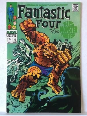 Fantastic Four # 79 FN/VF 7.0 This Monster Forever Free Postage