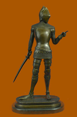 Medieval Middle Ages Knight Warrior Sculpture Ef Gift Handmade Bronze Marble T