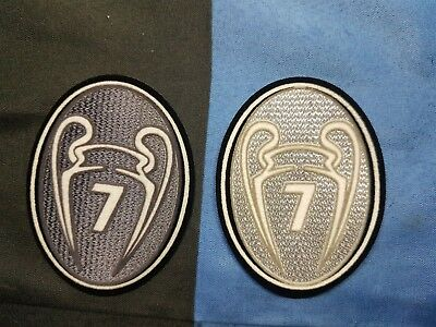 patch toppa TROPHY 7 TROFEO CHAMPIONS LEAGUE LEXTRA MILAN COPPA CAMPIONI SILVER