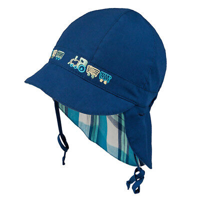 TIE UP 100% Cotton hat with UV +30 SUN PROTECTION Spring Summer BABY BOYS