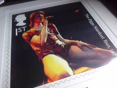 "David Bowie ""Ziggy Stardust"" Ltd Edition Royal Mail Framed Stamp Print, 90/950"