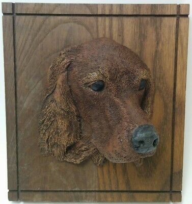 Vintage Kennel Favorites Wall Plaque Irish Setter Hand Painted Made in U.S.A.