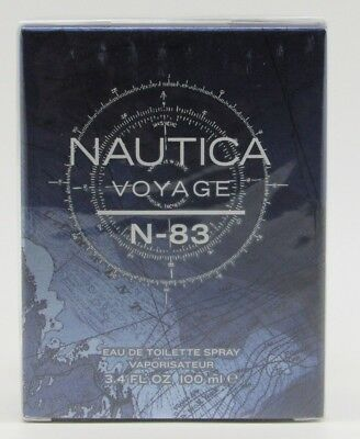 Nautica Voyage N-83 by Nautica 3.4 oz / 100 ml EDT Cologne for Men New In Box