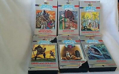 Lot of 6 VHS Hanna-Barbera's The Greatest Adventure BIBLE Stories EASTER