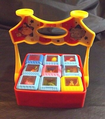 Fisher Price Peek A Boo Circus Blocks With Toy Holder - 9 Character Blocks