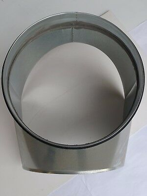 Spirasafe Ventilation Ducting 400mm onto 400mm Curved Boot Shoe Take-off - Qty 5