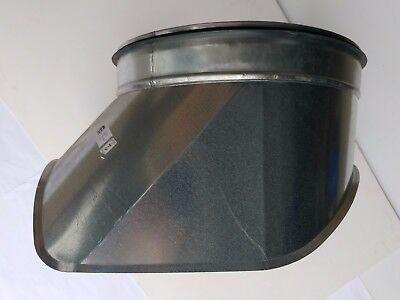 Spirasafe Ventilation Ducting 400mm onto 355mm Curved Boot Shoe Take-off - Qty 2