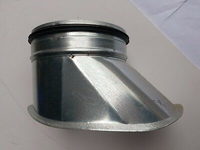 Spirasafe Ventilation Ducting 400mm onto 150mm Curved Boot Shoe Take-off - Qty 9