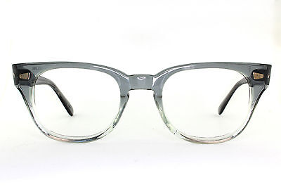 Vintage 60's 70's NOS Pathway Optical Eyeglass Frames in Gray Fade w/ Keyhole