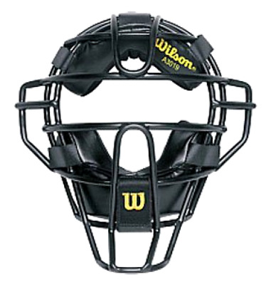 New Wilson Dyna-Lite Umpire and Catcher's Face Mask Cage Finish - Rubber Dip
