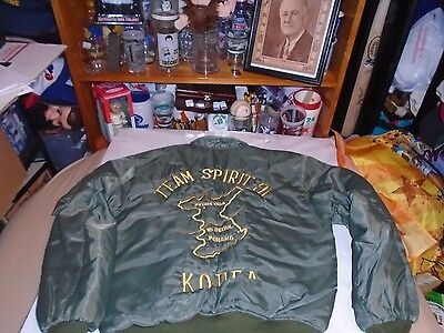Us Army Korea War Vintage 1990's Nylon Jacket Adult Size Great Condition