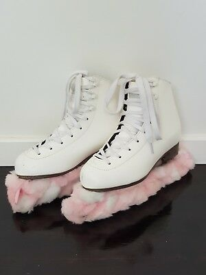 Girls Ice Skates White leather -Excellent condition- inline figure skating