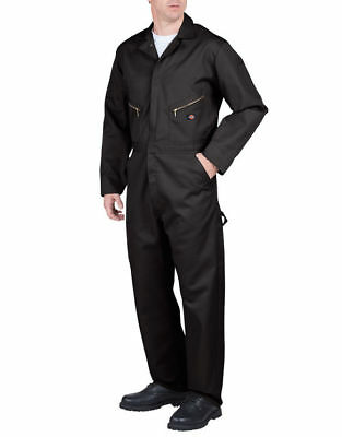 Dickies Coveralls Men's Big & Tall Long Sleeve Deluxe Coverall  BLACK SIZE M