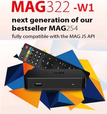 IPTV Set-Top-Box BRAND NEW build-in wifi + HDMI MAG322 W1 by INFOMIR