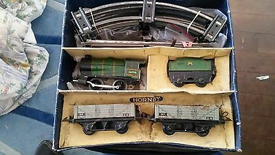 Vintage Hornby Meccano Tin Toys Clockwork M1 Goods Set O Guage Old School Retro