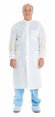 Kimberly Clark Basic Plus Lab Coats 10020, Protective 3-Layer SMS Fabric, Knit &