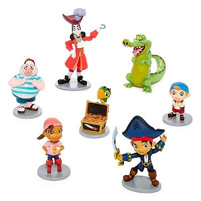 Disney Store Jake and the Neverland Pirates Figure Play Set Cake Toppers New