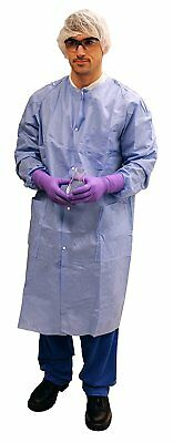 Kimberly Clark Basic Plus Lab Coats 10031, Protective 3-Layer SMS Fabric, Knit &