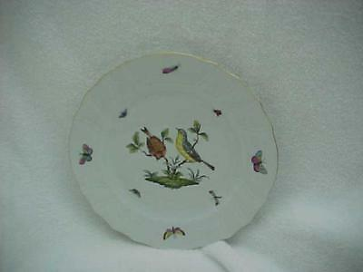 Herend Rothschild Birds 10 1/4-inch Dinner Plate No. 1 -- MINT & Never Used