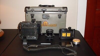 Graflex Camera with Lens 5.6  and Attachments - SOLD AS-IS - for parts or repair