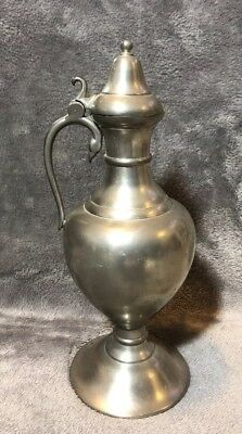 Vintage Royal Holland Pewter Flagon KMD Tiel Made in Holland Mid Century