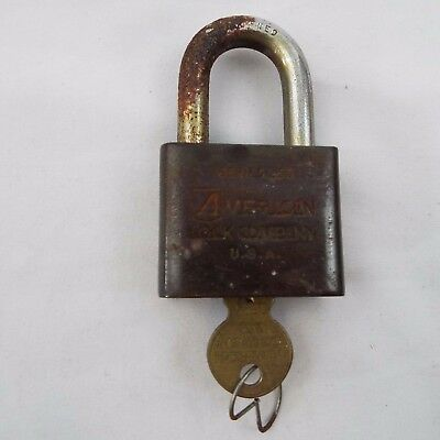 Vintage American Lock Series L50 Padlock With Key Brass WORKS, Made USA