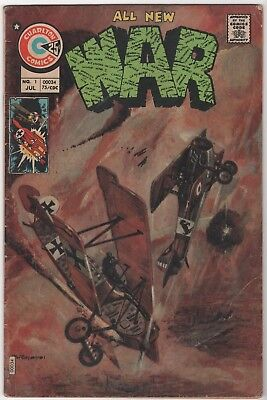First Issue WAR #1 in Good/Very Good 3.0 Condition (July, 1975 Charlton)