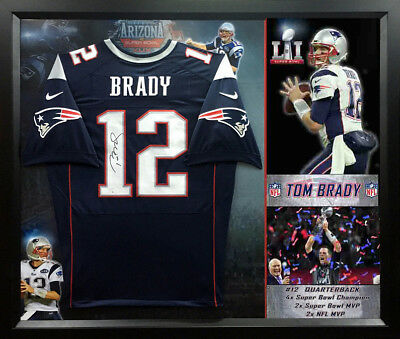 Tom Brady Autographed Signed Patriots Jersey Nfl Authentic Framed With Coa