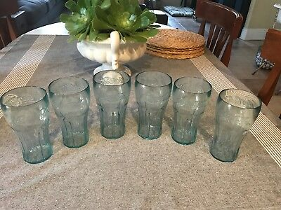 Lot 6 12 18 24 36 Coca-Cola COKE GLASSES BLUE GREEN Tint Plastic TUMBLERS 20 oz