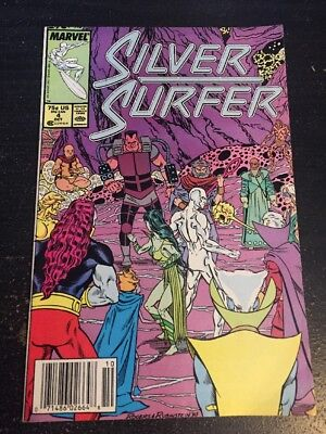 Silver Surfer#4 Incredible Condition 8.5(1987) Mantis App, Rogers Art!!