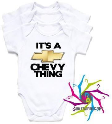 Wholesale Bulk Lot Baby Rompers - Chevy Thing X 4