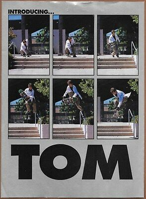 Tom Green Birdhouse Skateboards Two-Page Magazine Print Ad 2002