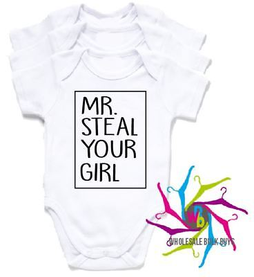 Wholesale Bulk Lot Baby Rompers - Mr. Steal Your Girl X 4